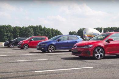 Всички VW GTI в една надпревара (ВИДЕО)