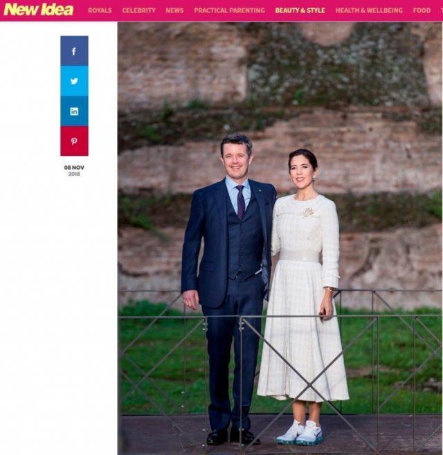 Мери Датска съчета официална рокля с маратонки