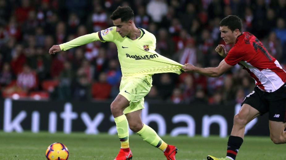 Барселона загуби две точки в Билбао