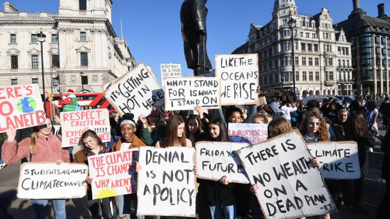 И във Великобритания учениците настояват за спешни мерки срещу климатичните промени