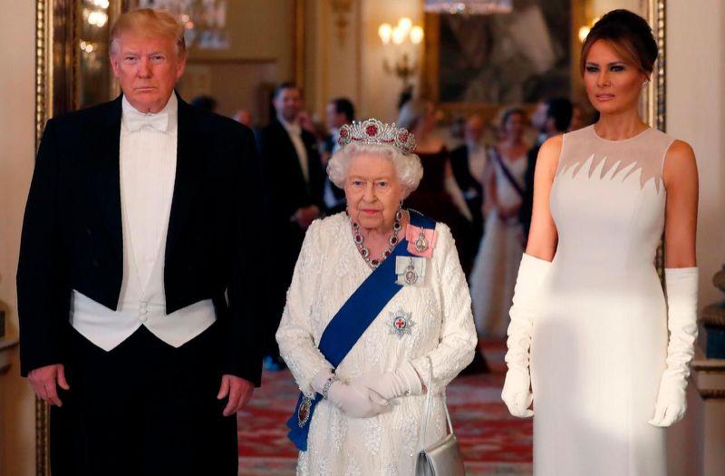 Кралица Елизабет II даде прием в чест на Тръмп