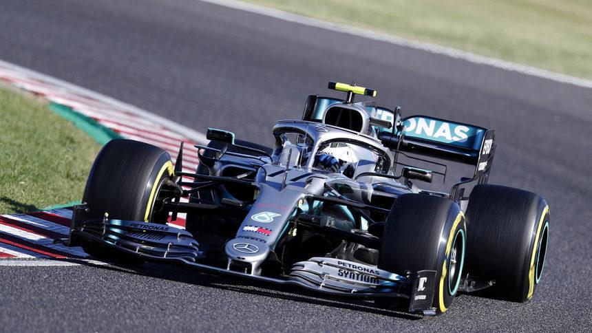 """Ботас триумфира в Гран при на Япония и гарантира титла на """"Мерцедес"""""""