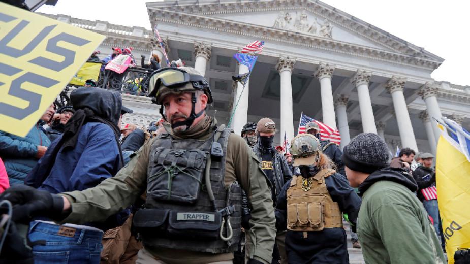 Четири жертви на щурма на Капитолия във Вашингтон