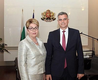 Министър-председателят Стефан Янев проведе среща с посланика на Руската Федерация Елеонора Митрофанова